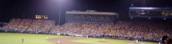 Rosenblatt Stadium College World Series crowd at night: Texas vs. ASU 2009