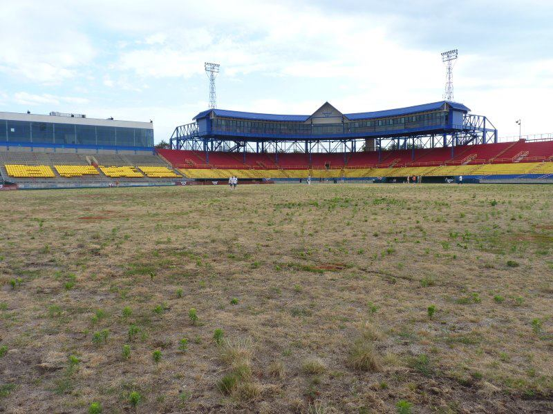 Dead outfield at Rosenblatt