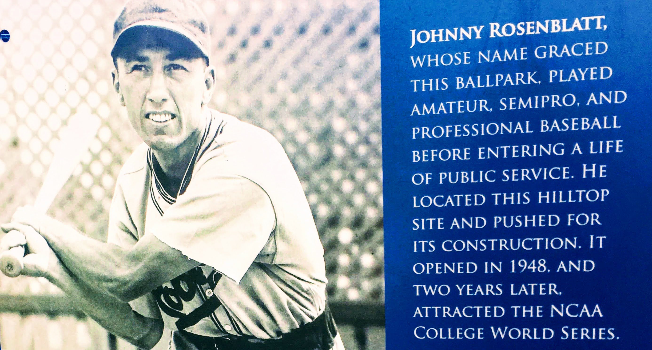 Cropped Johnny Rosenblatt plaque